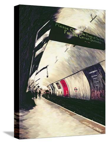 Please Check the Front of the Train... 1998-Ellen Golla-Stretched Canvas Print