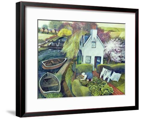 St. Catherine's, Lock Gates-Lisa Graa Jensen-Framed Art Print