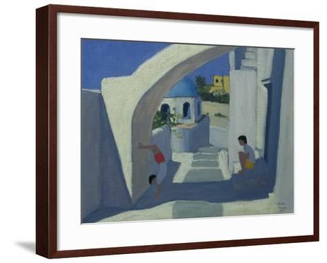 Handstand, Santorini-Andrew Macara-Framed Art Print