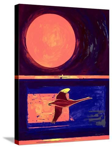 Sunset and Swan, 2003-Derek Crow-Stretched Canvas Print