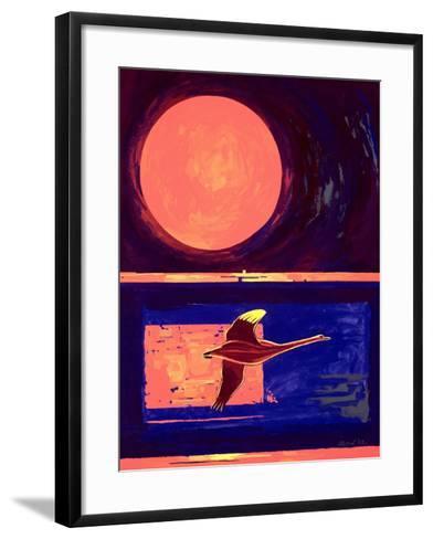 Sunset and Swan, 2003-Derek Crow-Framed Art Print