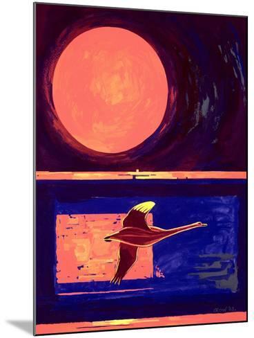 Sunset and Swan, 2003-Derek Crow-Mounted Giclee Print