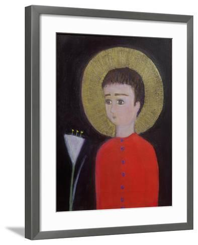 Boy with Lily, 2002-Roya Salari-Framed Art Print