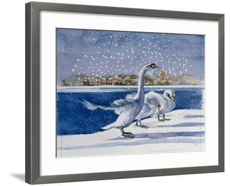 Swans at Kensington Palace-Isabel Hutchison-Framed Art Print