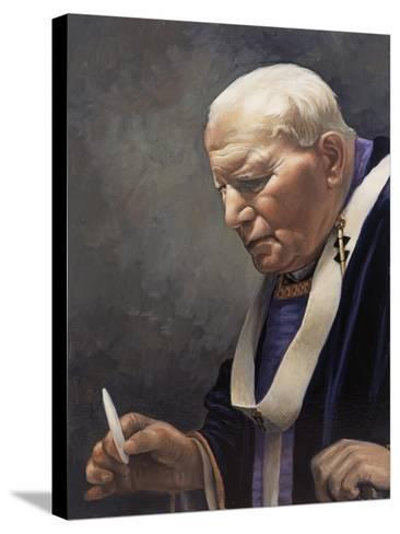 Study for a Portrait of Pope John Paul II (1920-2005) 2005-James Gillick-Stretched Canvas Print