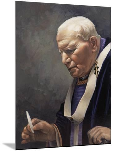 Study for a Portrait of Pope John Paul II (1920-2005) 2005-James Gillick-Mounted Giclee Print