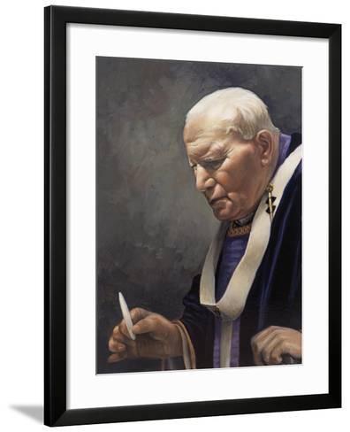 Study for a Portrait of Pope John Paul II (1920-2005) 2005-James Gillick-Framed Art Print