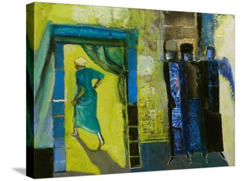 Sarah and the Three Angels, 1998-Richard Mcbee-Stretched Canvas Print