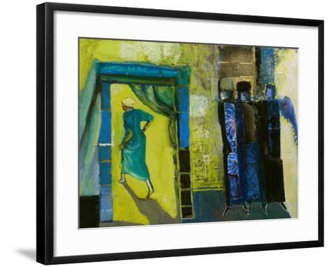Sarah and the Three Angels, 1998-Richard Mcbee-Framed Art Print