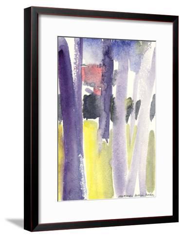 Trees in a Garden, 1997-Claudia Hutchins-Puechavy-Framed Art Print