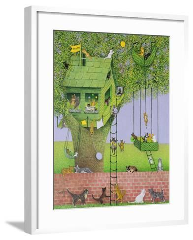 Cat Tree House-Pat Scott-Framed Art Print