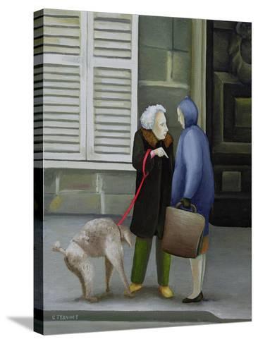 Gossip, Ile St. Louis-Caroline Jennings-Stretched Canvas Print