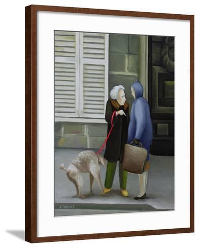 Gossip, Ile St. Louis-Caroline Jennings-Framed Art Print