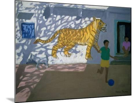 Tiger, India-Andrew Macara-Mounted Giclee Print