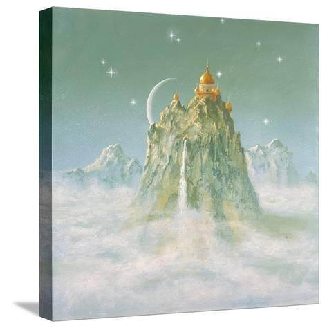 Temple in the Mountain-Simon Cook-Stretched Canvas Print