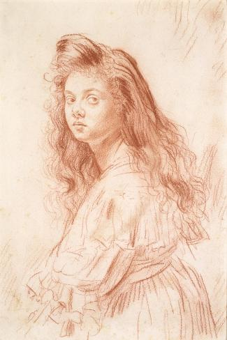 Cecily Beresford Hope-Augustus Edwin John-Stretched Canvas Print