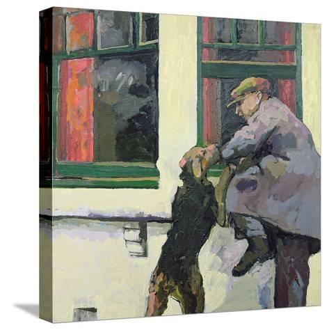 Breaking in - Locked Out, 1982-Peter Wilson-Stretched Canvas Print