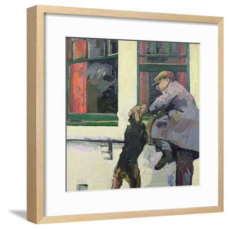 Breaking in - Locked Out, 1982-Peter Wilson-Framed Art Print