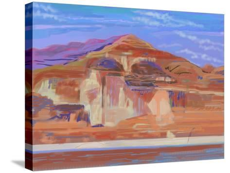Painted Cliffs, Lake Powell-Howard Ganz-Stretched Canvas Print