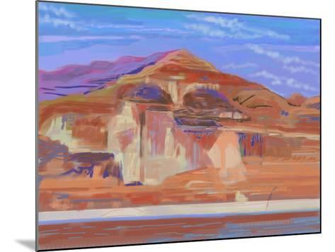 Painted Cliffs, Lake Powell-Howard Ganz-Mounted Giclee Print