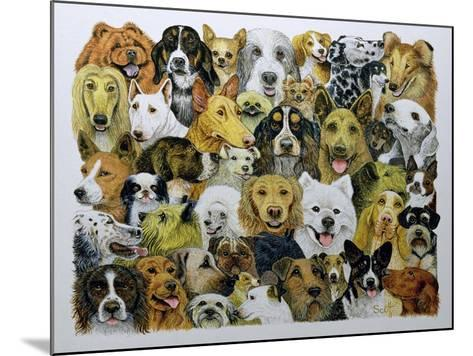 Dog Friends-Pat Scott-Mounted Giclee Print
