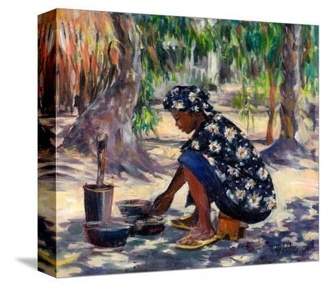 Woman Cooking, 2004-Tilly Willis-Stretched Canvas Print