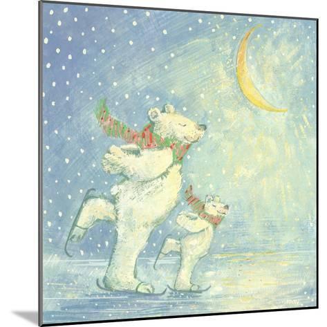 Skating Polar Bears-David Cooke-Mounted Giclee Print