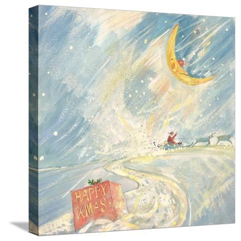 Happy Xmas-David Cooke-Stretched Canvas Print