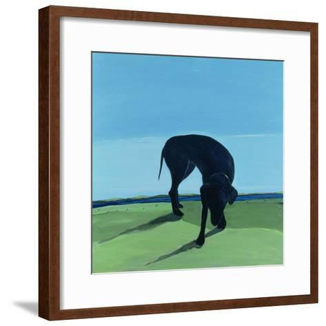 Joe's Black Dog, 1996-Marjorie Weiss-Framed Art Print