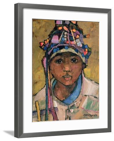 Portrait of a Boy-Anna Kostenko-Framed Art Print