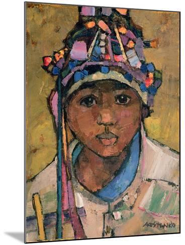 Portrait of a Boy-Anna Kostenko-Mounted Giclee Print