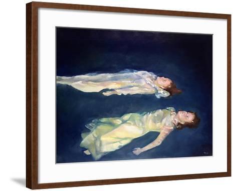 Two Girls Floating, 2004-Lucinda Arundell-Framed Art Print