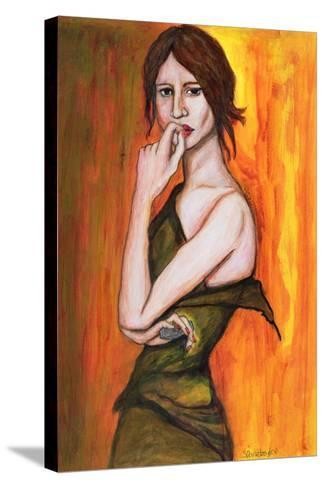 Green Dress and Mobile Phone, 2006-Stevie Taylor-Stretched Canvas Print