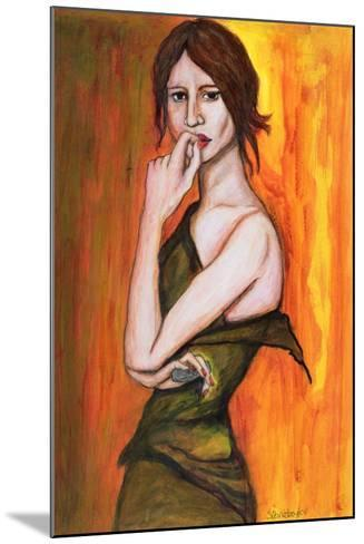 Green Dress and Mobile Phone, 2006-Stevie Taylor-Mounted Giclee Print