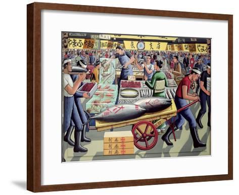 Tsukiji Fish Market, 2005-P.J. Crook-Framed Art Print