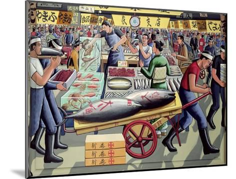 Tsukiji Fish Market, 2005-P.J. Crook-Mounted Giclee Print