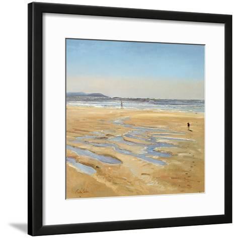 Beach Strollers-Timothy Easton-Framed Art Print