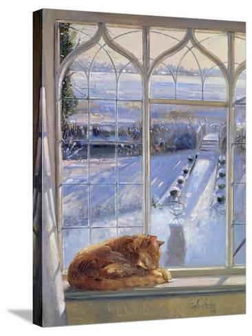 Sundial and Cat-Timothy Easton-Stretched Canvas Print