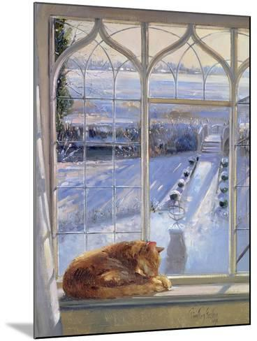 Sundial and Cat-Timothy Easton-Mounted Giclee Print