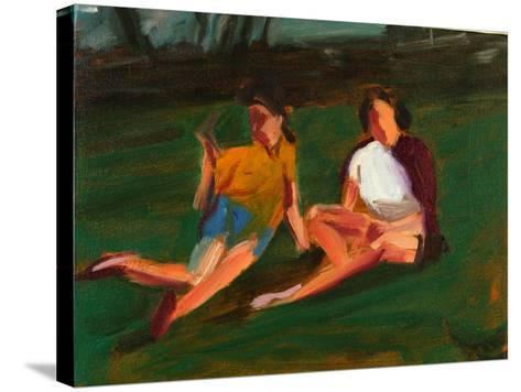 Two Girls, 2004-Daniel Clarke-Stretched Canvas Print