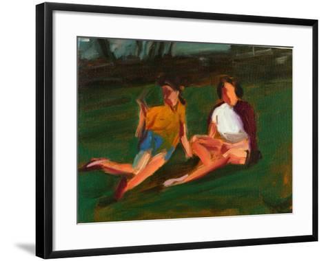 Two Girls, 2004-Daniel Clarke-Framed Art Print