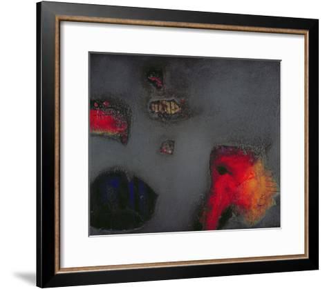 Seahorse, 1999-Jane Deakin-Framed Art Print