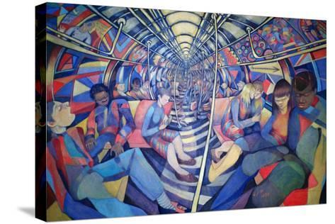 Subway NYC, 1994-Charlotte Johnson Wahl-Stretched Canvas Print