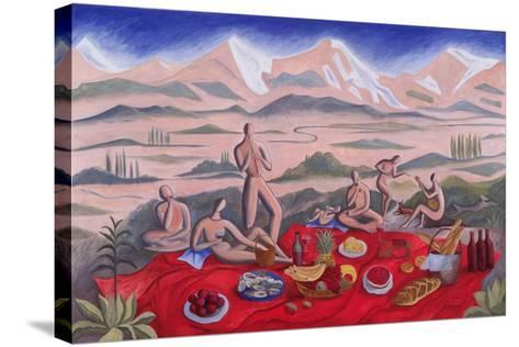 The Picnic, 1992-Marie Hugo-Stretched Canvas Print