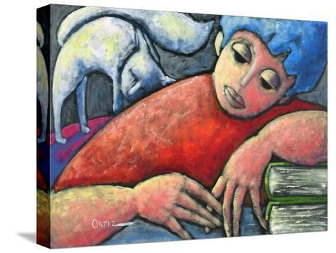 Haciendo Tareas En Mi Cuarto-Oscar Ortiz-Stretched Canvas Print