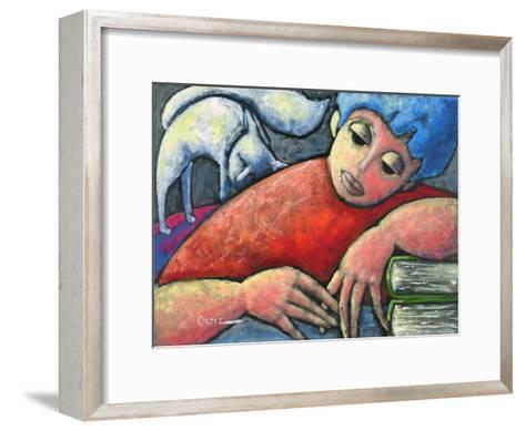 Haciendo Tareas En Mi Cuarto-Oscar Ortiz-Framed Art Print