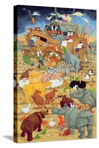 Building Noah's Ark-Linda Benton-Stretched Canvas Print