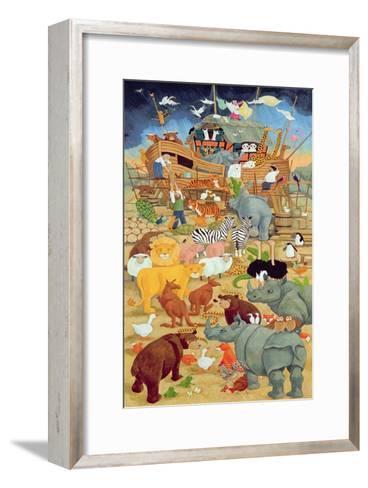 Building Noah's Ark-Linda Benton-Framed Art Print
