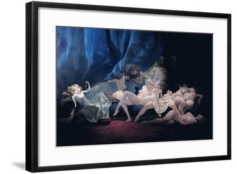 The Young Bride and Her Friends, from 'Bluebeard' by Charles Perrault (1628-1703)-Daniel Cacouault-Framed Art Print