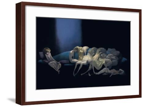 The Young Bride and the Dead Wives, from 'Bluebeard' by Charles Perrault (1628-1703)-Daniel Cacouault-Framed Art Print
